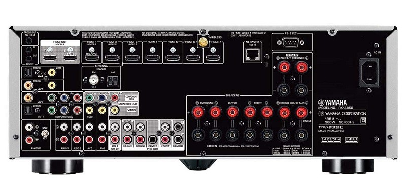 Yamaha 推出對應4K及Dolby Atmos 的中階 AV AMP RX-A850
