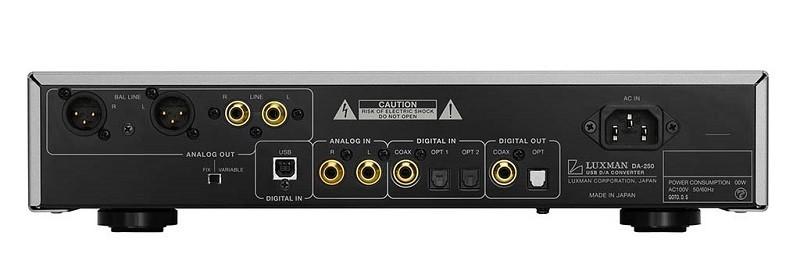 LUXMAN 推出支援 DSD 5.6MHz 的 USB DAC +前置放大器 DA-250