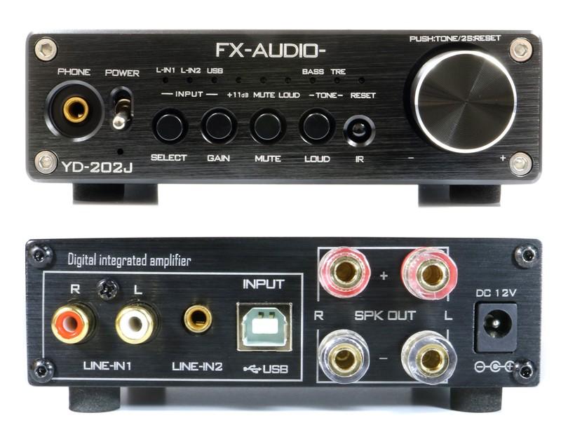 FX-AUDIO 推出內置 USB DAC 的小型數碼放大器 YD-202J