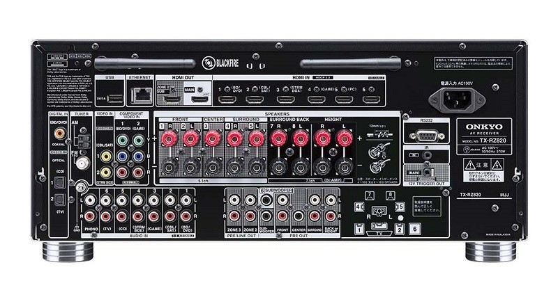 ONKYO 推出具 3D 聲效的中階 7.2 聲道 AV 放大器 TX-RZ820