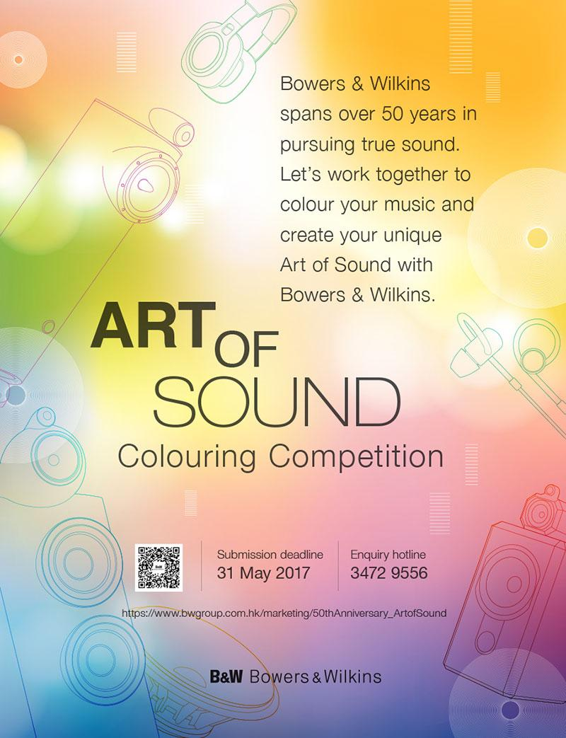 B&W Art of Sound Colouring Competition