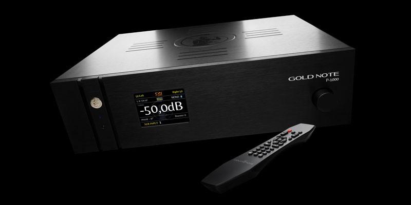 意國風情,GoldNote推出首台前級放大器 P-1000
