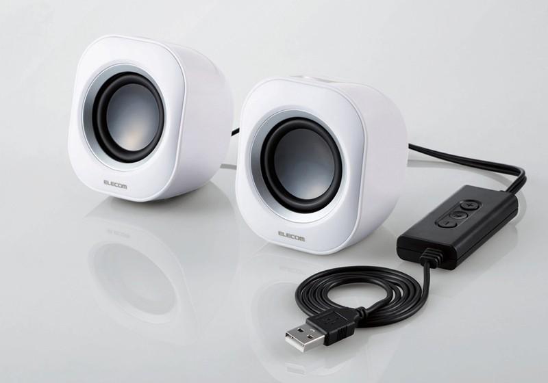 ELECOM 推出內置放大器的小型 USB 喇叭 MS-P08USB