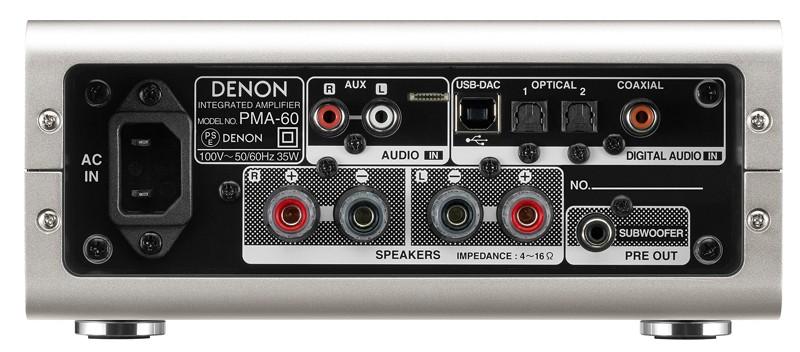 進化小鋼炮,Denon 推出具 USB 解碼功能的小型數碼放大器 PMA-60