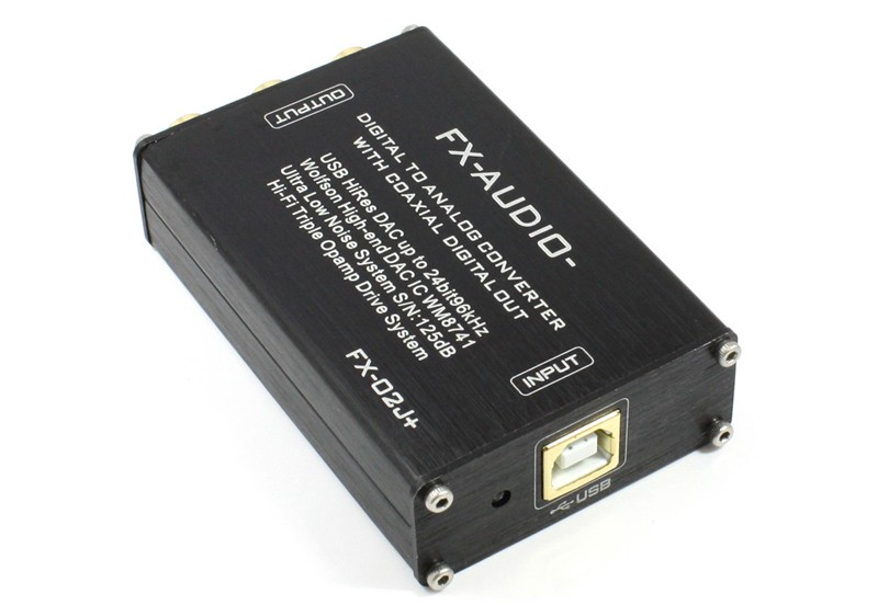 FX-AUDIO 推出全新改良版本 USB DAC FX-02J+