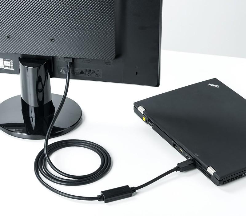 SANWA 推出全新 DisplayPort - HDMI 轉換線材 500-KC021 / 500-KC020 系列