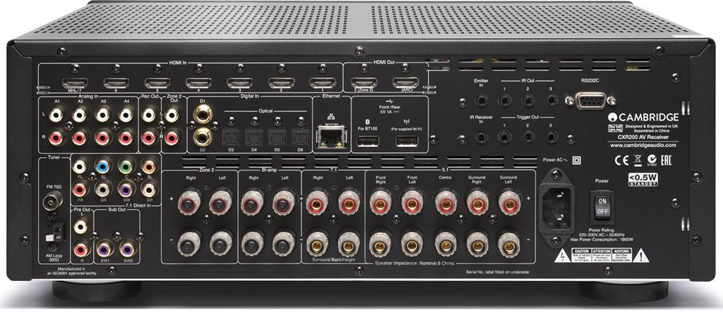 Cambridge Audio CXR200 網路影音擴音機