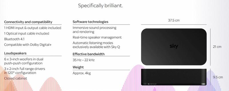 英國 Sky 推出內置 ADH 放大技術的 Sky Soundbox