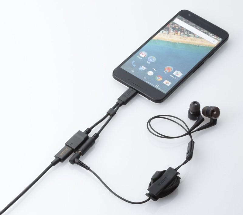 同時充電 + 聽音樂無難度,ELECOM 推出 USB Type-C / 耳機轉接插 AD-C35CBK