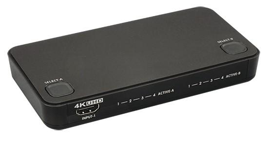 RATOC Systems 推出全新四入二出的 4K HDMI 選擇器 RS-HDSW42-4K