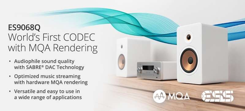 原生支援 MQA,ESS Technology 推出全新 DAC 晶片 ES9068Q