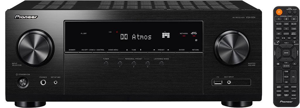 全新多聲道 AV 擴音機 Pioneer VSX-934
