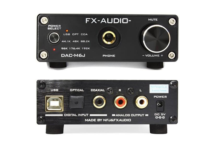 FX-AUDIO 推出全新 DAC / 耳機放大器 DAC-M6J