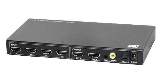 RATOC Systems 推出全新四入二出的 1080P HDMI 選擇器 RP-HDSW42A