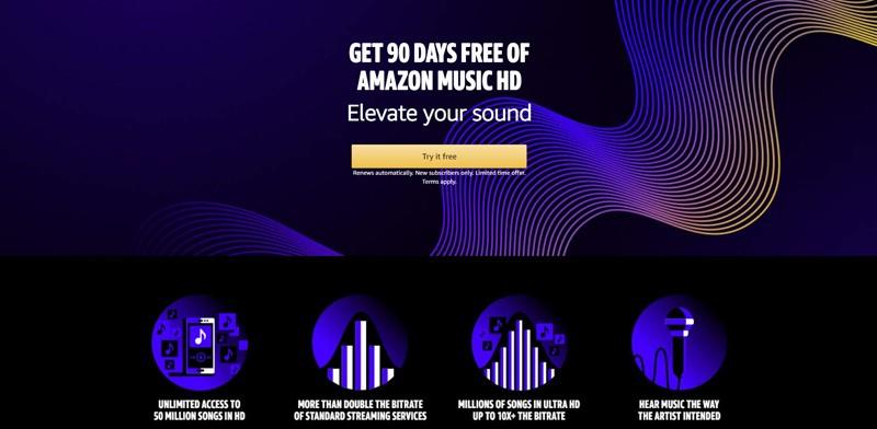 亞馬遜推出全新 Amazon Music HD 高音質串流播放服務