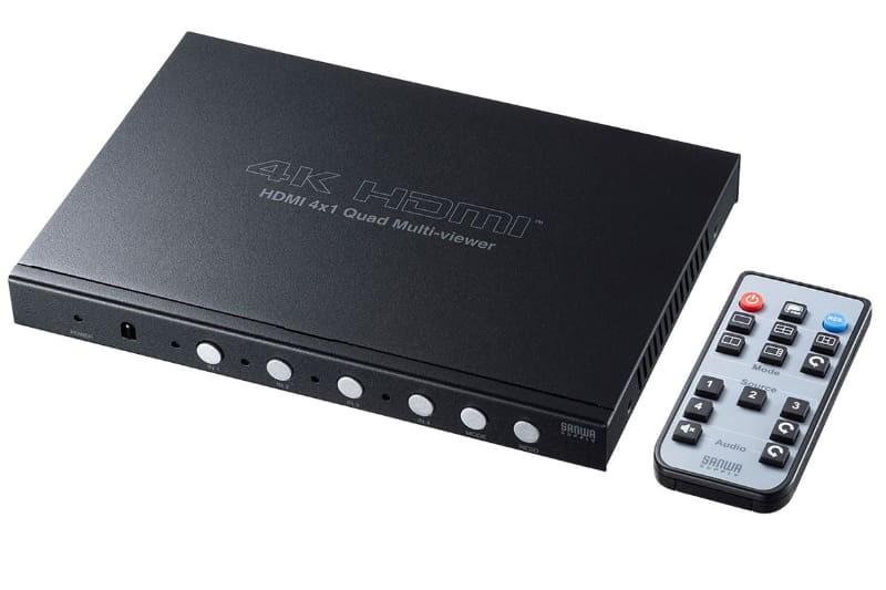 四組不同訊源同時顯示,Sanwa 推出屏幕分割顯示器 SW-UHD41MTV