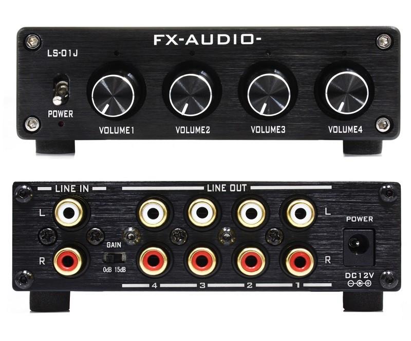FX-Audio 推出全新四聲道分配 / 前級放大器 LS-01J