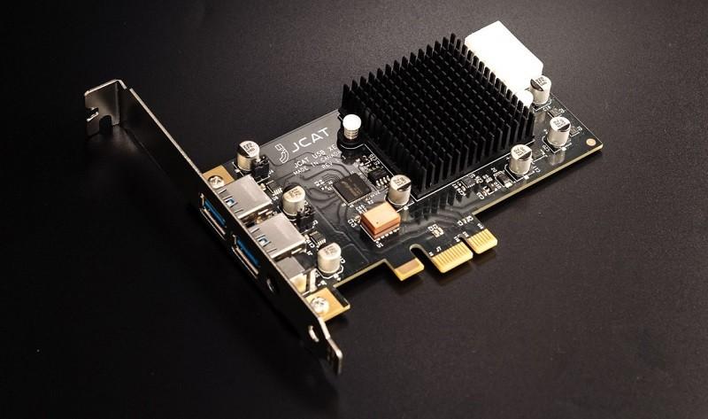 JCAT 推出高階音響用的 USB-Audio 輸出咭 USB CARD XE