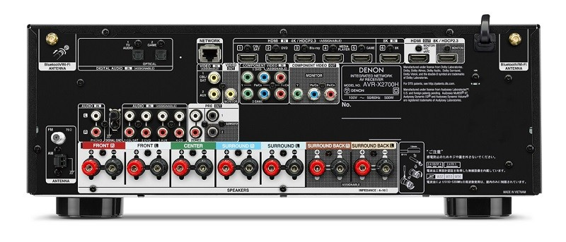 8K 解像入門,Denon 推出全新 AV 放大器 VR-X2700H