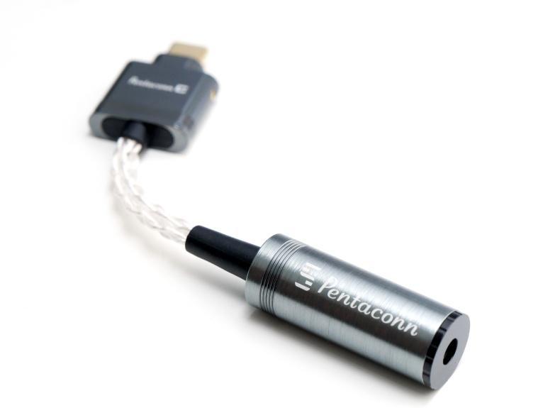 Hi-Res 音樂隨身播放 - Pentaconn C 流動解碼轉接線