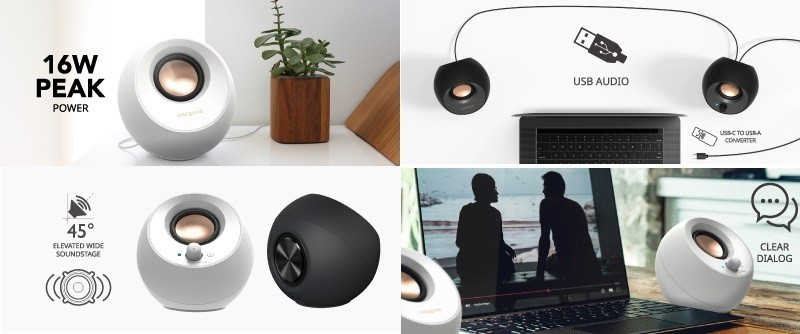 Creative 推出全新白色版本 Pebble V3 小型桌面喇叭
