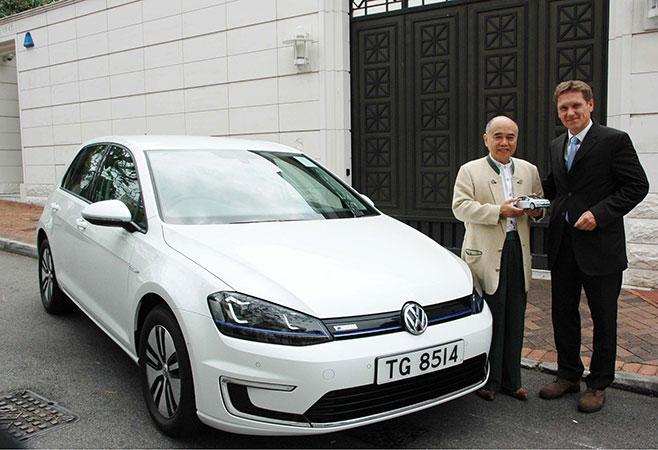 亞洲首輛 Volkswagen 全新 e-Golf 於香港交車