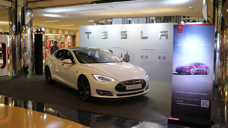 Tesla Model S 太古城展出