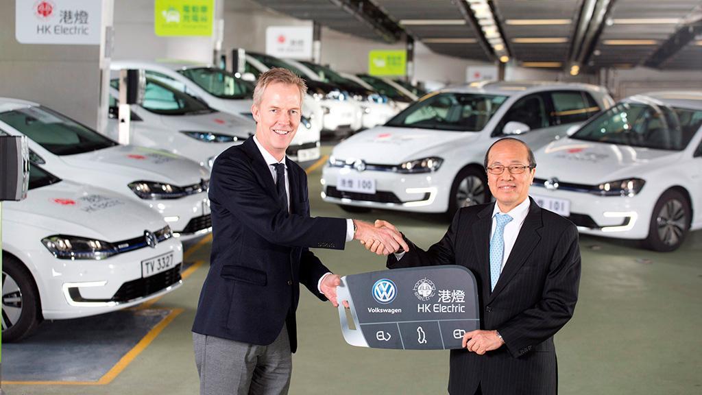 Volkswagen 純電動 e-Golf 加入香港電燈電動車隊