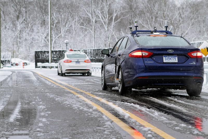 福特 Fusion 混合自動駕駛研究  可在嚴寒冬日中導航的汽車