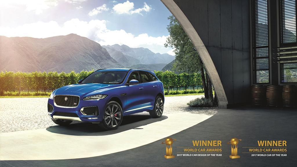 JAGUAR F-PACE 席捲年度汽車、年度最佳設計雙項大獎