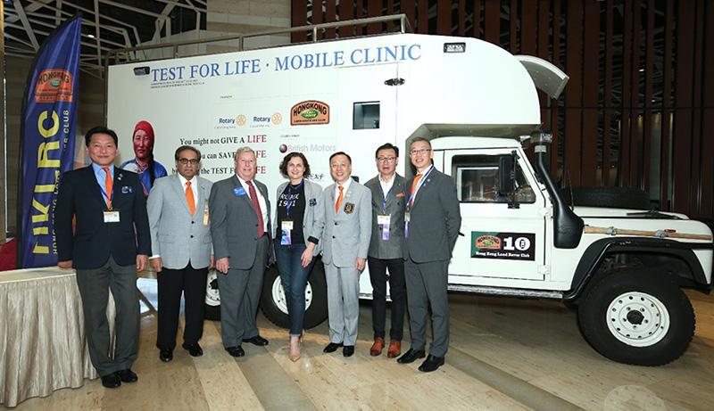 香港扶輪 向蒙古捐贈醫療越野車