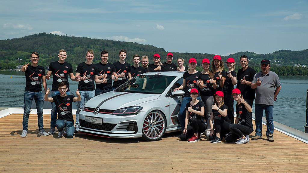 Volkswagen 禾夫斯堡及茨維考學徒於 GTI Meeting 首度展示他們研發的 Golf 展覽車
