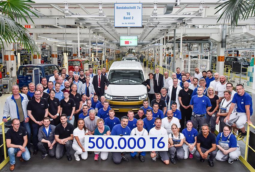 Volkswagen 商用車里程碑  漢諾威工廠慶祝出產第 50 萬輛 T6 汽車