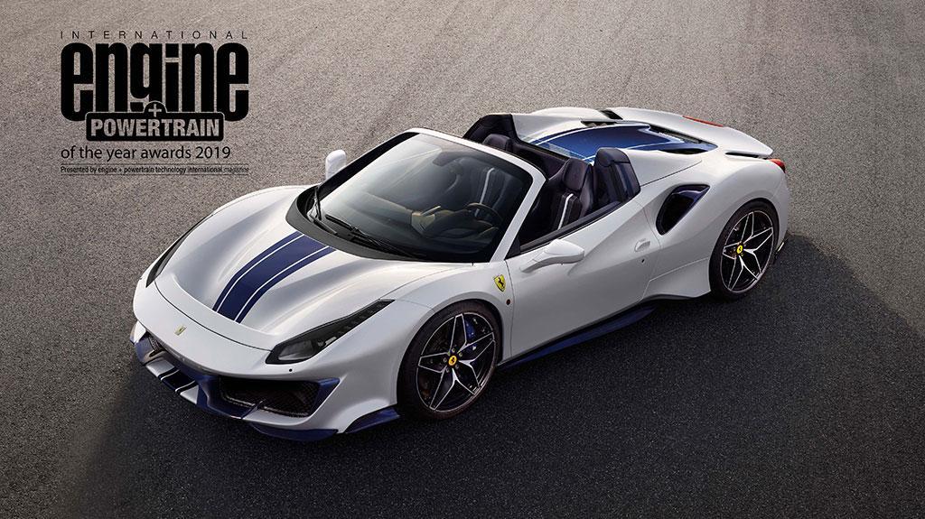 法拉利 V8 引擎連續四年榮膺「國際年度引擎及傳動系統大獎」
