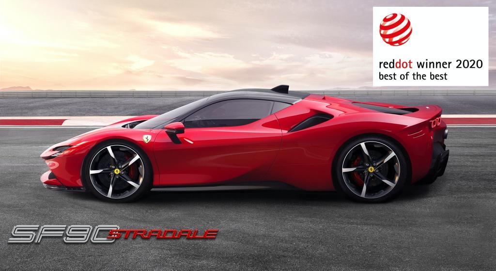 創新設計成就非凡榮耀:法拉利 SF90 Stradale 榮膺紅點設計大獎最高榮譽