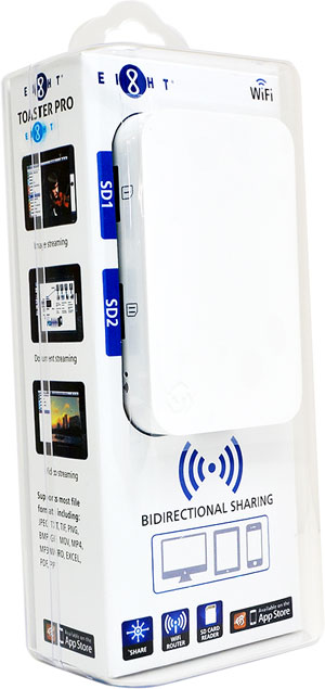 EIGHT Toaster Pro 便攜式無線分享裝置