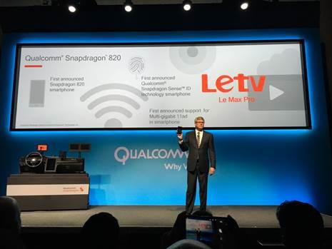 Letv 發布全球首款搭載 Qualcomm Snapdragon 820 處理器手機 Le Max Pro