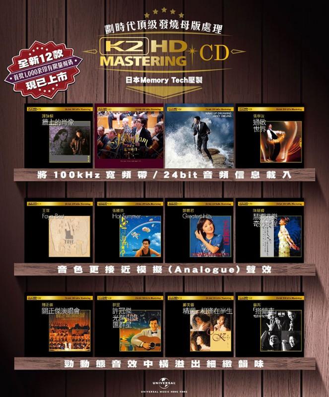 劃時代頂級發燒母版處理 K2HD Mastering CD