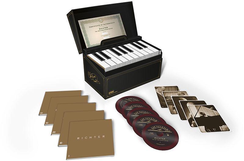 全球限量 1000 套! 鋼琴巨擘 Richter 李赫特百歲紀念 50CD 套裝